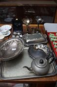 Collection of plated ware to include a presentatio