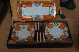 Set of scales & weights together with a noritake c