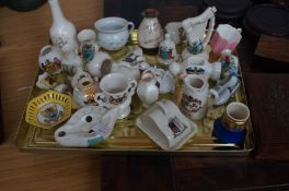 Collection of crested ware