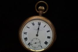 Tho Russel & Son Liverpool gold plated pocket watc