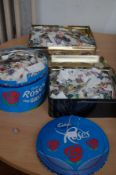 3 Large tins of loose world stamps