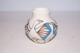 Moorcroft six geese laying vase Height 9 cm