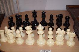 Oversized plastic chess set