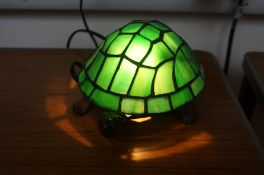 Tiffany style turtle lamp
