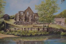 Oil on board titled finchal priory by the artist J