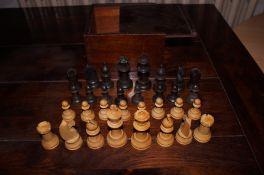 Vintage wooden chest set & box