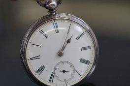 Silver case pocket watch with sub second dial, Che