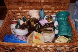 Basket of ceramics