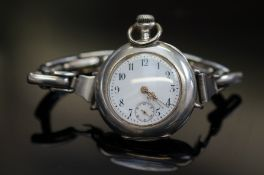 800 Grade silver trench watch