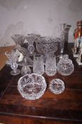 Collection of turone crystal ware