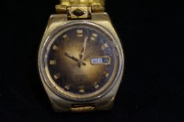 Gents Seiko 5 gold plated automatic wristwatch