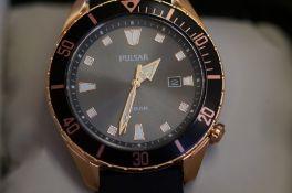 Gents Pulsar calendar wristwatch