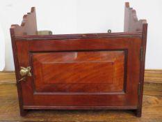 Mahogany wall cupboard with key 41 cm wide