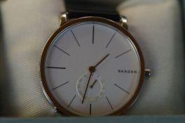 Gents Skagen sub dial wristwatch