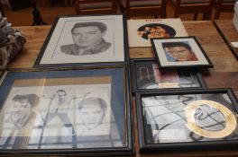 Elvis Presley collectables to include a film cell