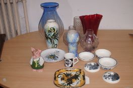 Collection of art glass & ceramic to include a Nat