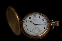 Gold plated Waltham pocket watch, recommended for