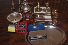 Collection of metal ware
