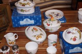 Collection of royal Worcester dinner ware, some bo