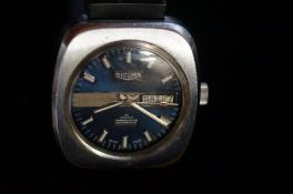 Vintage Sicura day/date automatic wristwatch, reco