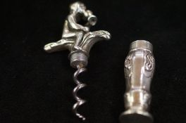 Dutch silver cork screw