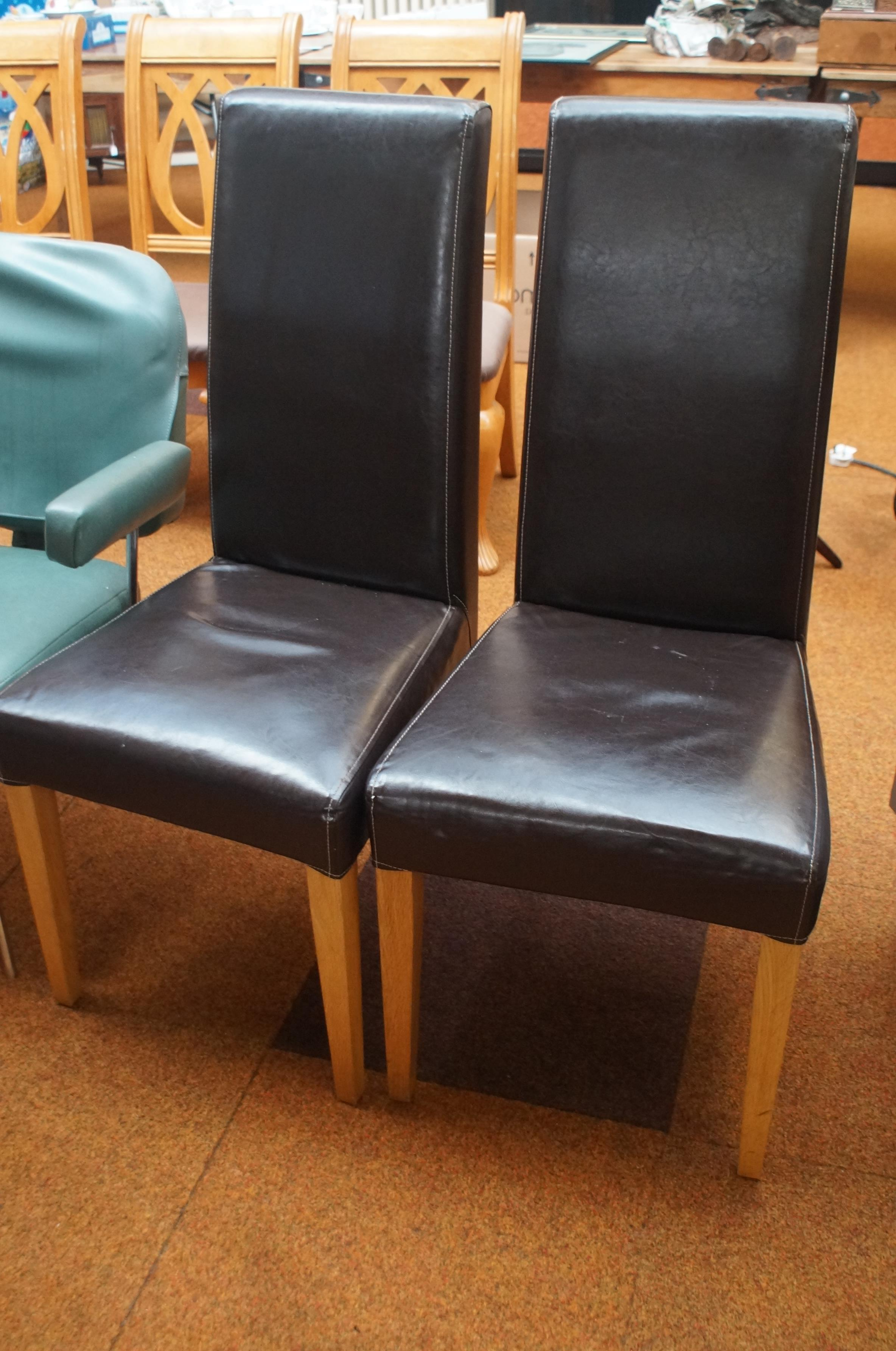 2 leatherette dining chairs