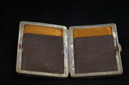 Leather & metal card case