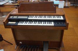 Vintage electric pedal organ