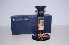 Moorcroft boxed Oberon candle stick Height 20 cm