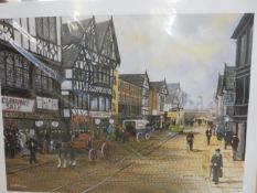 Bernard McMullen print signed with double blind st
