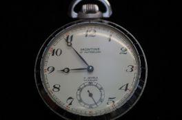 Montine 17 jewel pocket watch (See verso)