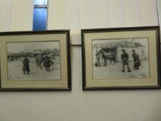 A early framed print