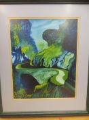 Large Abstract painting by Christine Healey 1997 -