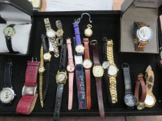 Large collection of fashion watches