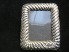 Silver photograph frame, Birmingham hallmark. 8 cm