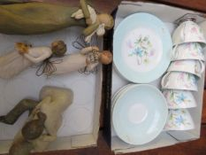 Queen Anne Tea Set together with Willow Tree Model