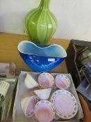 A Wellington Tea Set with 2 pieces of art glass