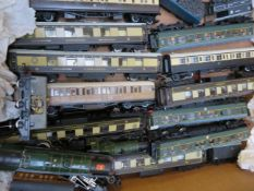 Collection of Model Train Carriages