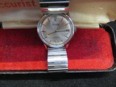 Gents Accurist 21 jewel automatic wristwatch (Shoc