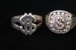 2 Silver Dollar Rings