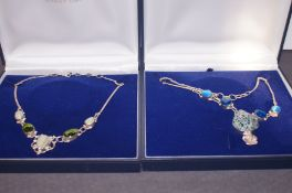 2 Boxed Silver Necklaces