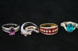 4 Silver Rings