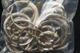 12 Pairs of Silver Loops