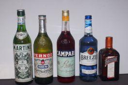 Martini Extra Dry, Pernod, Campari, Breezer by Bac