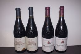 2 Bottles of 2010 Chateauneuf-Du-Pape together wit