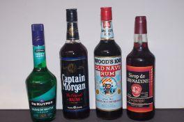 Woods 100 Old Navy Rum, Captain Morgan The Origina