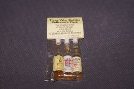 Three Wee Bottles Collector's Pack. The smallest b