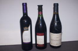 2004 Shiraz, 1997 Pinotage, 2007 Chateauneuf-Du-Pa