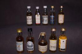 10 Unopened Bottles of Miniature Whisky