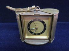 Europa brass travelling clock